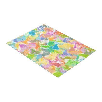 Hip Colorful Vibrant Summer Paint Splatter Pattern Doormat - kids kid child gift idea diy personalize design