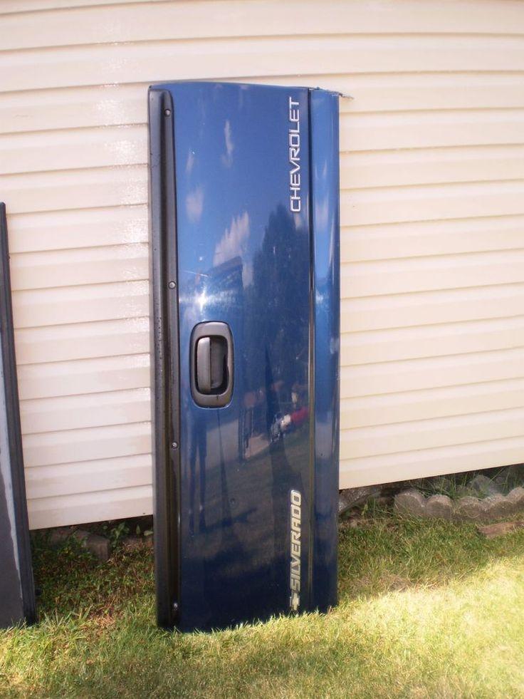 99-06 GMC Chevy Sierra Silverado 1500 2500 3500 USED Blue Tailgate Tail Gate OEM #GM