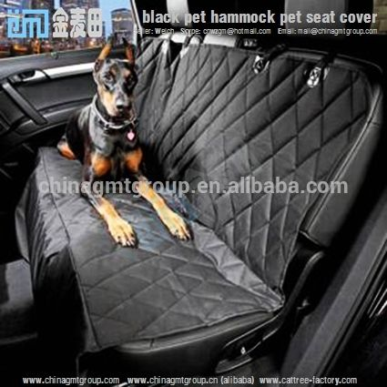 Luxury washable durable black Waterproof dog car seat cover pet hammock pet seat cover