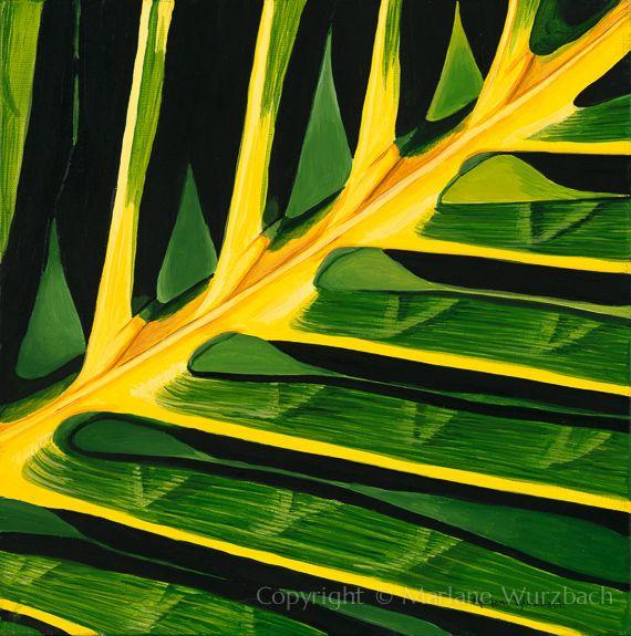 Marlane Wurzbach   ACRYLIC          Palm Frond