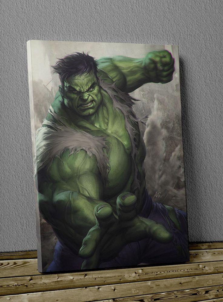 Quadro di Hulk Avengers stampa su tela cm 50x70 alta qualità pronto da appendere