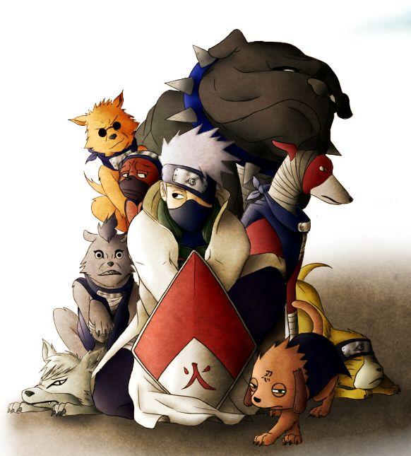 KAKASHI HOKAGE AND DOGS