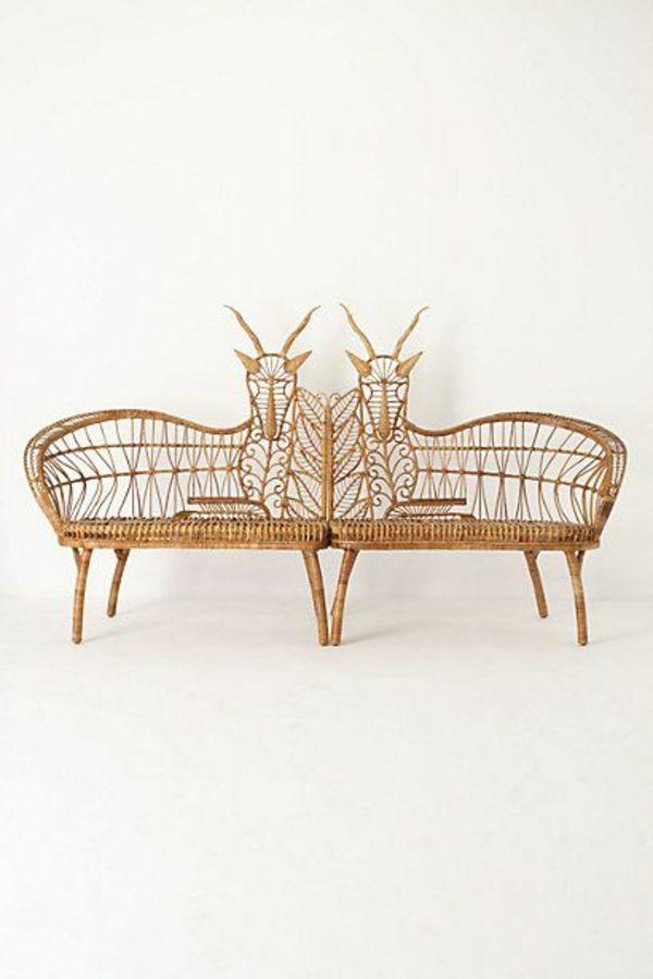 Sitzbank Mit Ruckenlehne Aus Rattan Von Dolcefarniente Wicker Furniture Furniture Wicker Decor