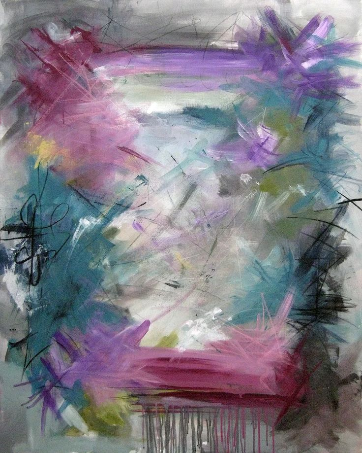 Rikke Laursen laver smukke moderne abstrakte malerier