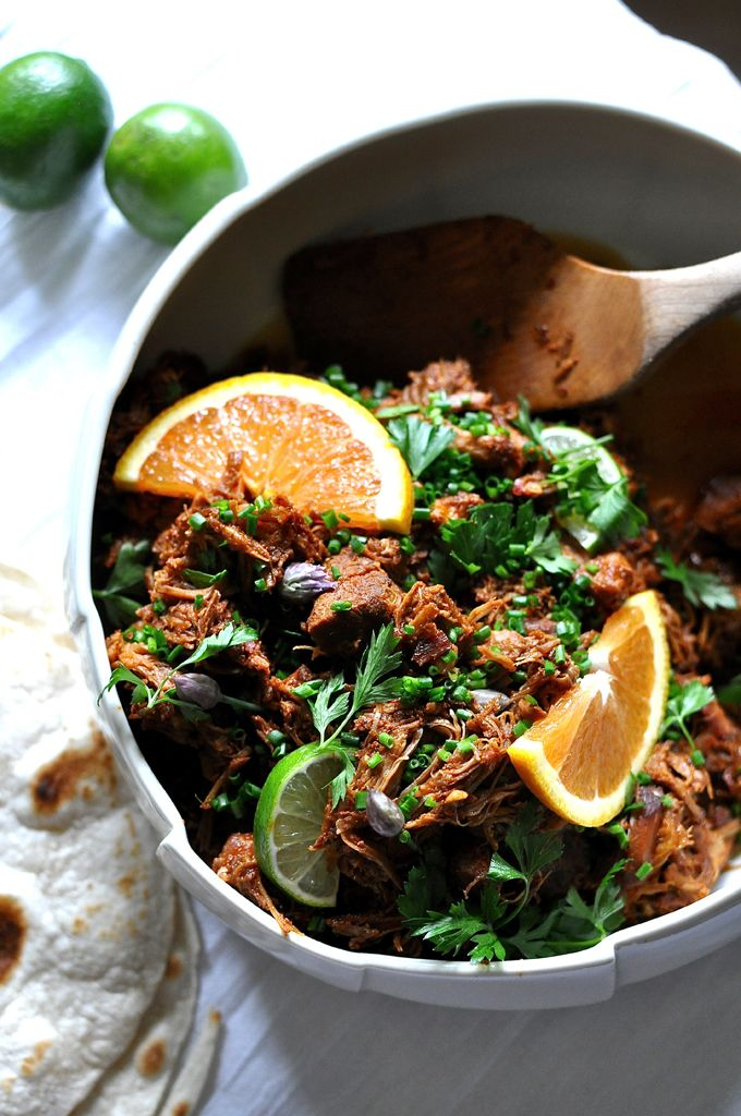 Slow Cooker Chilorio Recipe. Pork shoulder cooked in chiles and orange juice until tender and falling apart. Dairy free and gluten free! | ¡HOLA! JALAPEÑO