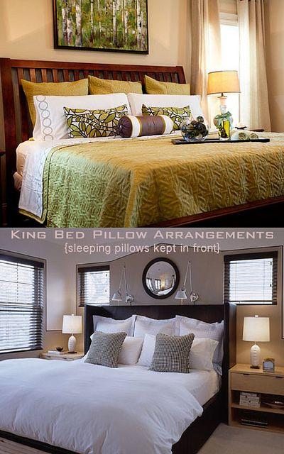 king size bed pillow arrangements 2
