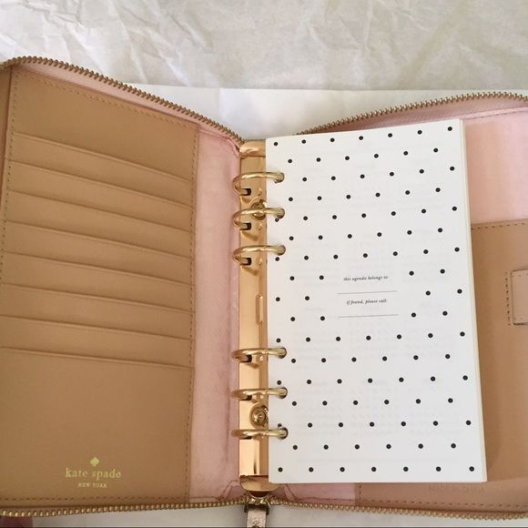 Limited Edition Kate Spade Rose Gold Planner
