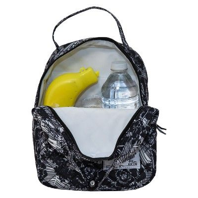 2d8f6d00c0 Danielle Morgan Quilted Lunch Bag - Black and White Floral, Multi-Colored    Products   Bags, Black, Black, white