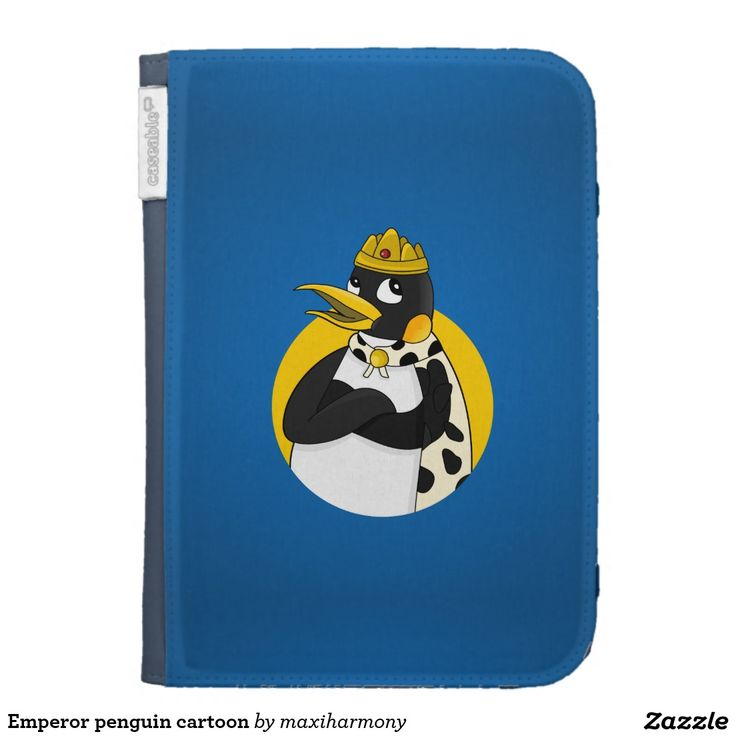 Emperor penguin cartoon kindle keyboard case