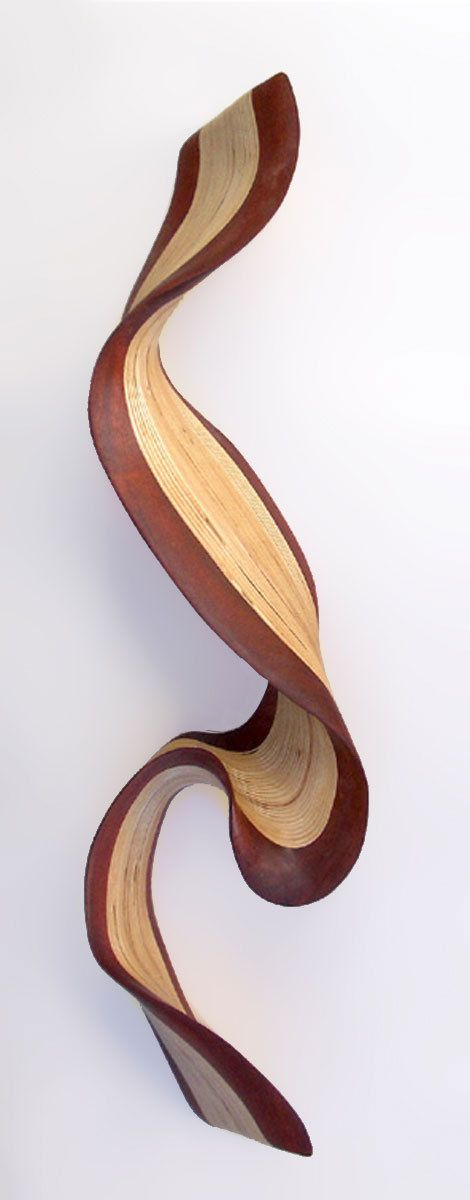 Wenge wallwave by kerry vesper wood wall sculpture