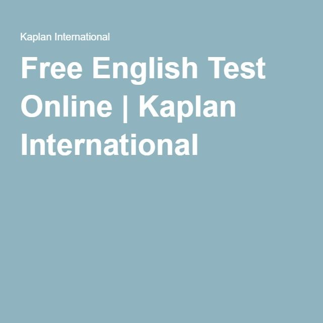 Free English Test Online | Kaplan International
