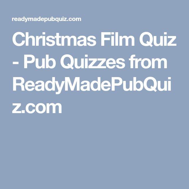 Christmas Film Quiz - Pub Quizzes from ReadyMadePubQuiz.com