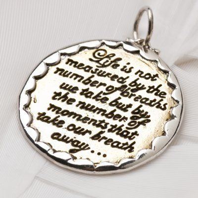 Breath away charm (1014) RRP $AUD39.60 #palasjewellery #lovepalas #charm #words #quote