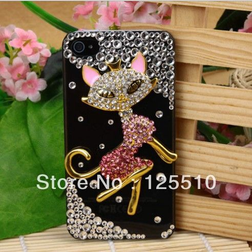 Aliexpress.com : Buy 3D Cover Case Skin for Iphone4g/4s Crystal Rhinestone Transparent Lovely Sex Fox Mobile phone Case For Iphone 4S Free Shipping from Reliable Cover for Iphone 4g sex suppliers on Skytech Global Technology INC. $8.65