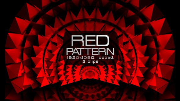 Red Pattern Video Animation | 3 clips | Full HD 1920×1080 | Looped | H.264 | Can use for VJ, club, music perfomance, party, concert, presentation | #cinematic #concert #dark #edm #elegant #fashion #glamour #glow #loops #luxurious #music #pattern #red #slow #vj