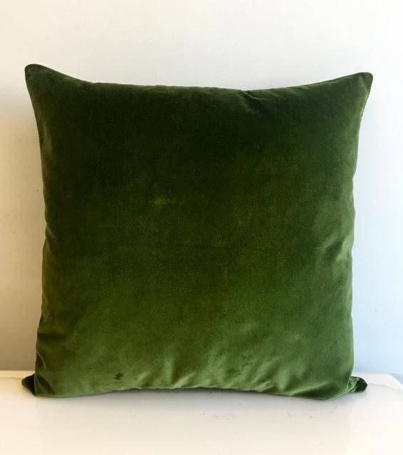 Green Velvet Throw Pillows, Velvet Pillow Cover, Gren Pillows, Designer Pillow, Decorative Pillows, Velvet Cushion, Green Velvet Pillows