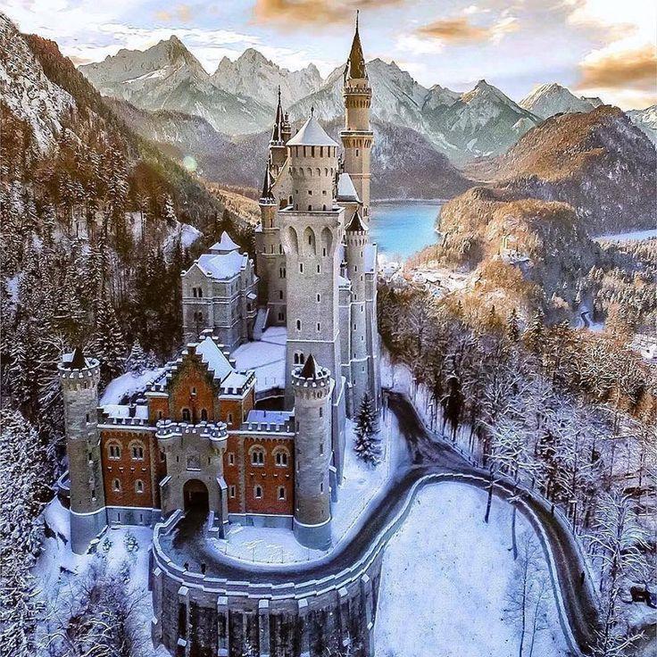 Stunning Neuschwanstein Castle in Winter, Germany - Album on Imgur