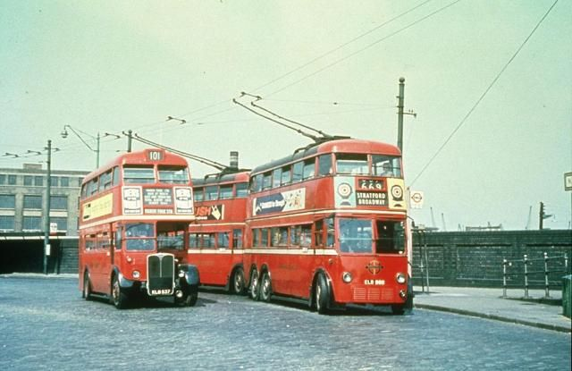The old trolley buses. They used to come off the wires sometimes and the…