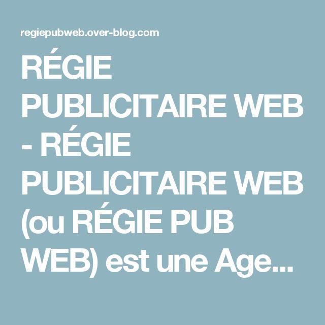 RÉGIE PUBLICITAIRE WEB - RÉGIE PUBLICITAIRE WEB (ou RÉGIE PUB WEB) est une Agence de communication de média sur internet (#RégiePublicitaireWeb #RegiePublicitaireWeb #RégiePubWeb #RegiePubWeb #RPW) de Mme Audrey AKPAMA (alais : Alexandra ROUROU), Conseillère en développement de communication publicitaire (#communication #marketing #référencement #web #internet). L'Agence propose aux associations et aux professionnels, la création, la gestion, le développement et le suivi de leurs stratégi...
