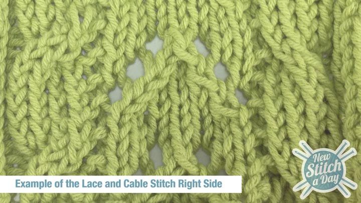 Cable Lace Knitting Stitches : 17 Best images about Knitting - Stitches on Pinterest Cable, Moss stitch an...