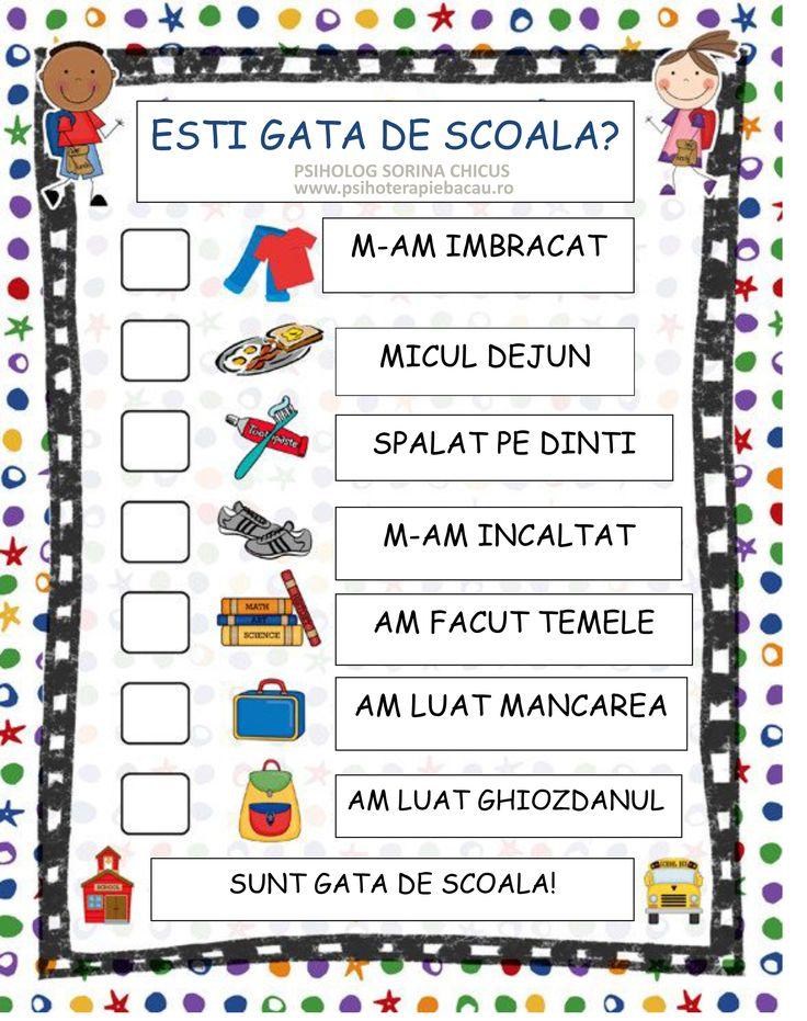 Rutina de dimineata - organizator al activitatii pentru copii - Blog Sorina Chicus - psiholog