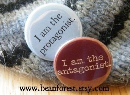i am the protagonist i am the antagonist  pinback by beanforest, $3.00