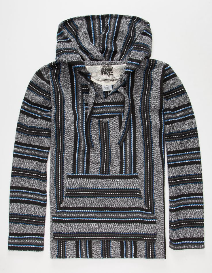 SENOR LOPEZ New Serape Twist Mens Poncho Hoodie 268699100 | Sweatshirts
