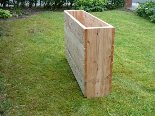 Wooden Troughs Garden Planters - extra high 650mm x 1m