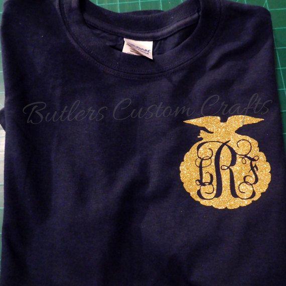 FFA Monogram tshirt. Future Farmers of America glitter Unisex shirt