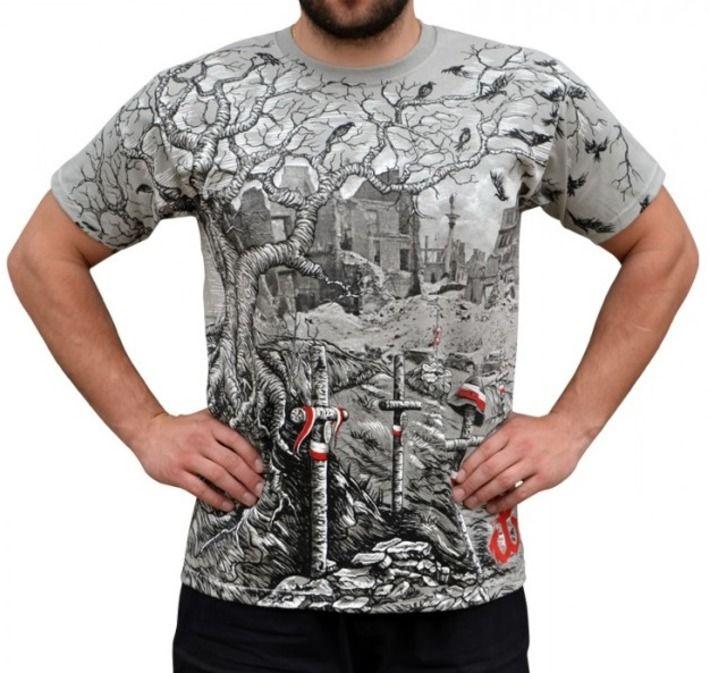 T-shirt patriotyczny 'Ceną była śmierć za wolności smak!' HD - przód ---> Streetwear shop: odzież uliczna, kibicowska i patriotyczna / Przepnij Pina!