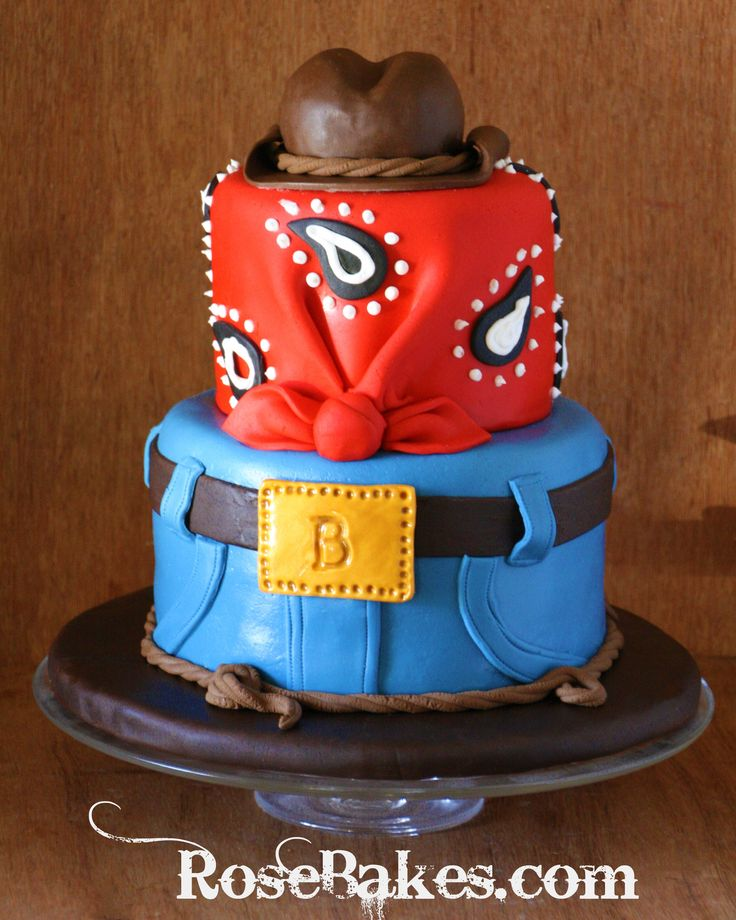 Cowboy-Western-Birthday-Cake-with-Jeans-Bandana-and-Cowboy-Hat-Cake-Topper.jpg (2546×3183)