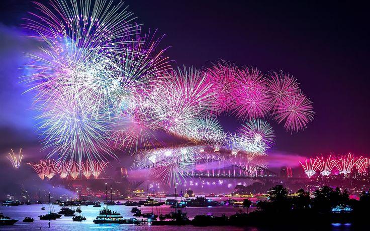 Rainbow Firework Wallpapers High Quality Resolution