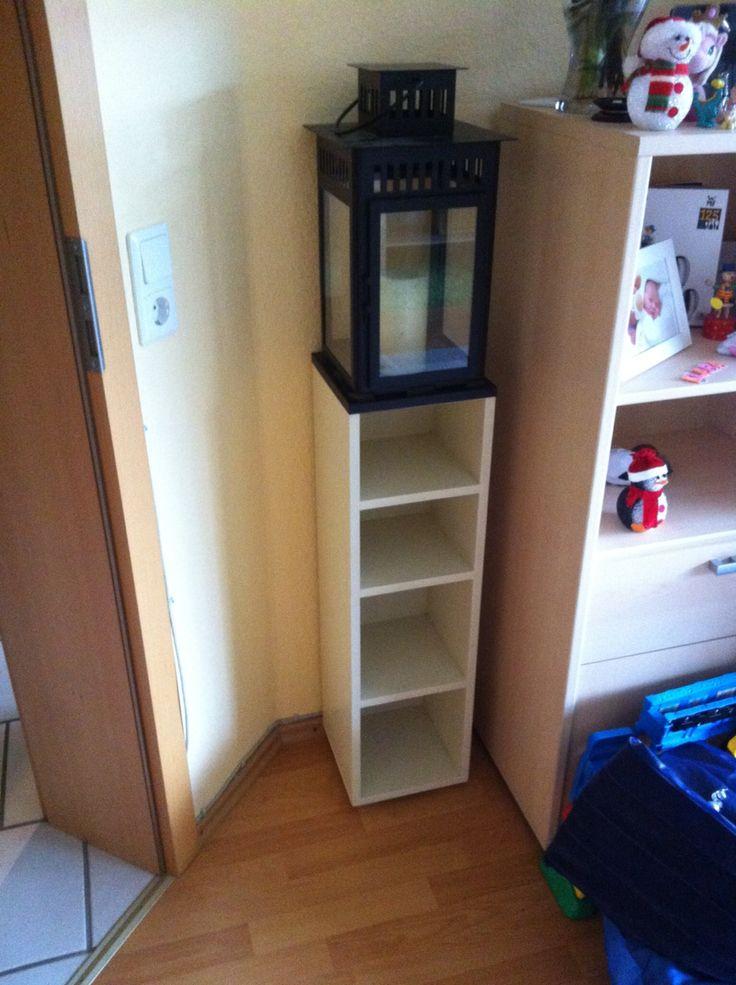 CD/DVD Regal, Unterbau für IKEA Lampe