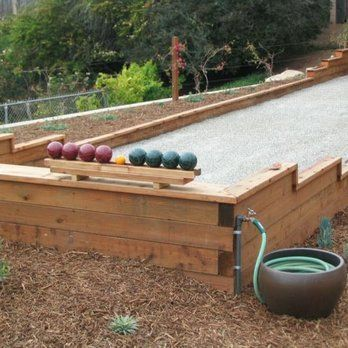 bocce ball court minimum size home residential dimensions
