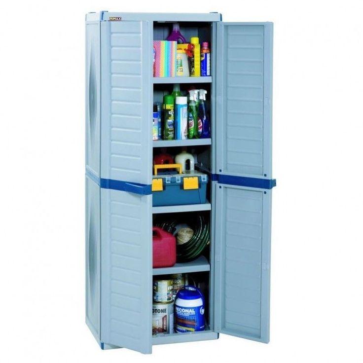 Storage Cabinet Plastic Garage Cupboard Organizer Shelving Box Unit Washroom Bin #StorageCabinet #Organizer