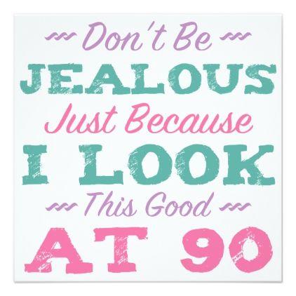 #90th Birthday For Women Card - #birthdayinvitation #birthday #party #invitation #cool #parties #invitations