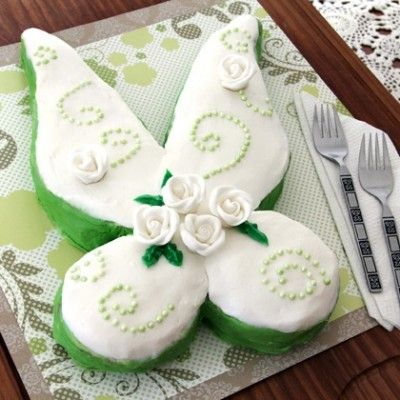 Tinker Bell's Fairy Wings Cake