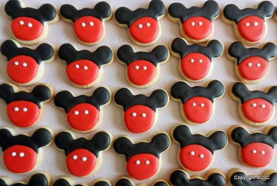 Mickey Mouse or Minnie Mouse mini two bite size cookies by 3CSC, $16.99