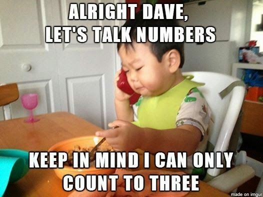 Funny Let's Talk Numbers Kid | Funny Joke Pictures