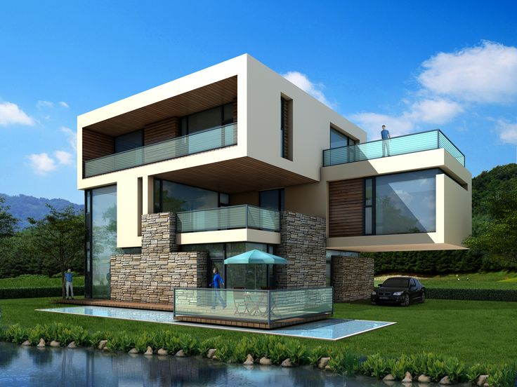 """dali urban housing - modern villa"" designed by hhp-architekten"