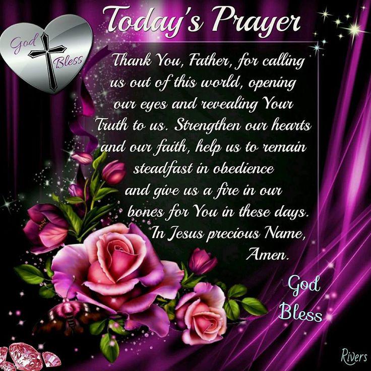 Today's Prayer.
