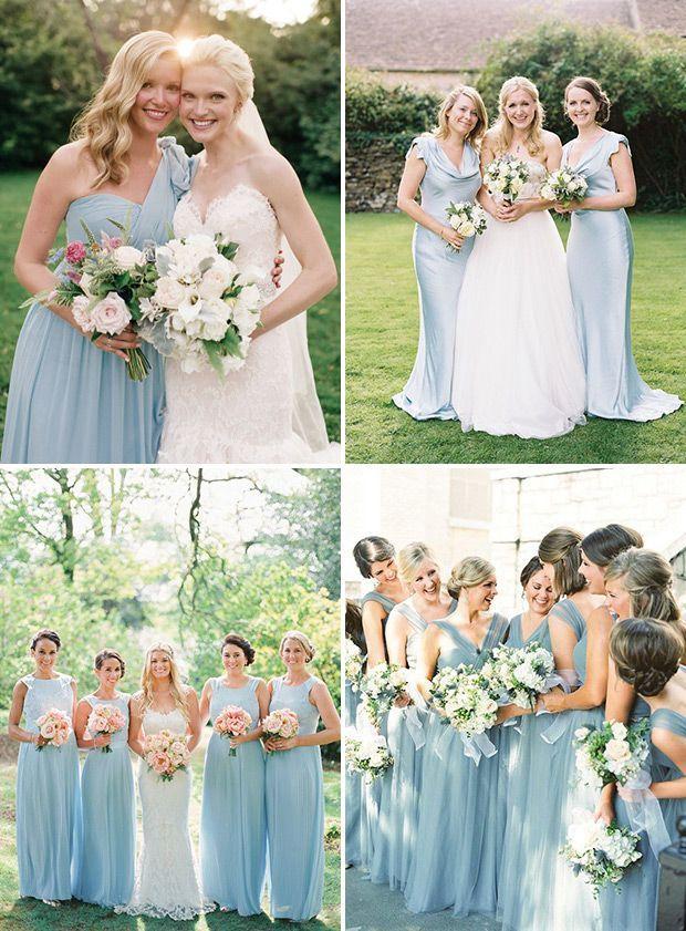 Blue Bridesmaid Dresses - Long Pastel Baby Blue Bridesmaids Dresses   www.onefabday.com