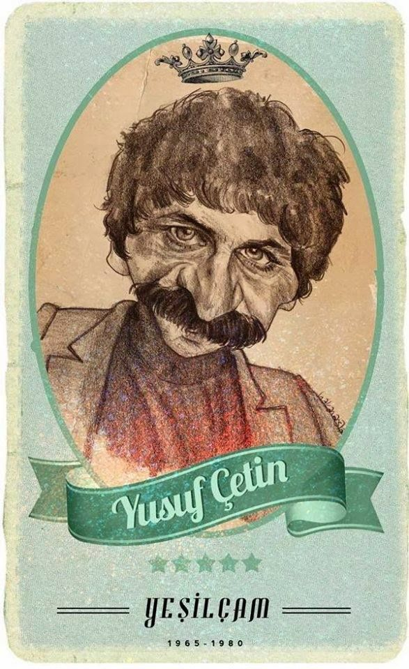#Yesilcam Turkish Cinema Actor Yusuf Çetin #Illustration by Hakan Arslan