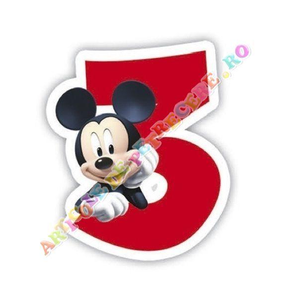 Lumanare pentru tort Mickey Mouse, cifra 3 - Articole Petrecere Lumanari aniversare - Accesorii Petrecere Lumanare pentru tort Mickey Mouse, cifra 3
