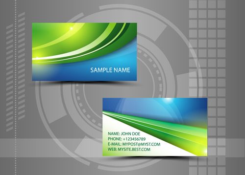 The 7 best business card design ideas images on pinterest business modern style abstract business cards vector 08 free reheart Choice Image