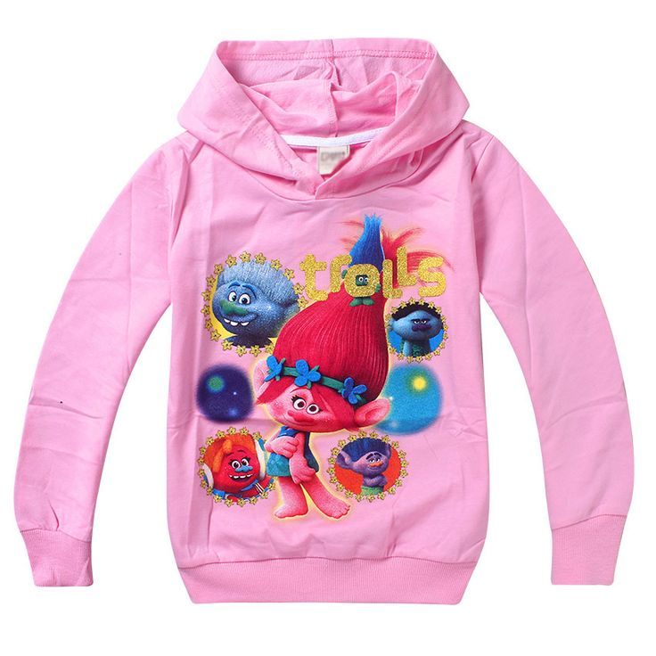 Trolls Girls Sweatshirt Children Hoodies for Girls Trolls Costume Kids Jacket Outwear Girls Hoodies Children Clothes #Affiliate