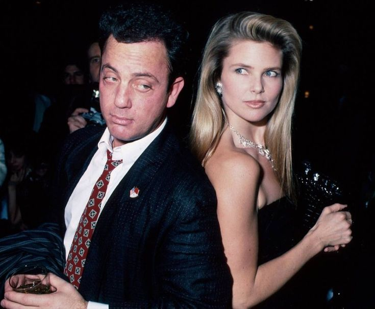 "Billy Joel with Christie Brinkley - When Brinkley went to visit Joel after being asked to star in the Uptown Girl video, the first thing Joel said to her upon opening his door was ""I don't dance"". Brinkley had to walk him through the basic steps he does in the video."
