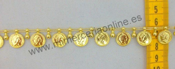 Pasamanería de monedas, 15 mm :: Mercería Noiva 2 1.10€