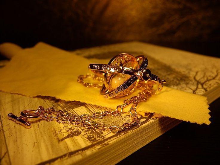 2016 Горячий Продавать Гарри поттер ожерелье время тернер ожерелье песочные часы Гарри Поттер Ожерелье Гермиона Грейнджер Вращающийся Спины купить на AliExpress