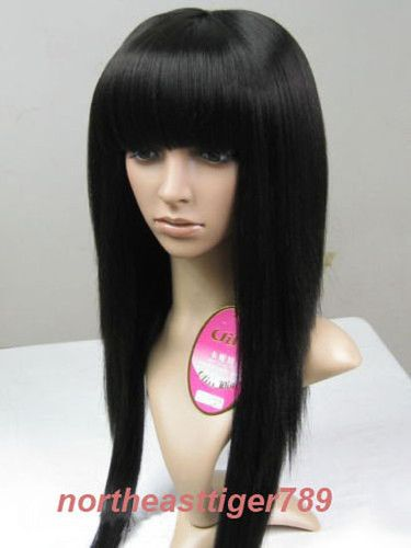 China bangs, long bob, black wig.  I'll be using this for casual/formal occasions whenever I'm feeling quiet but flirty. P:
